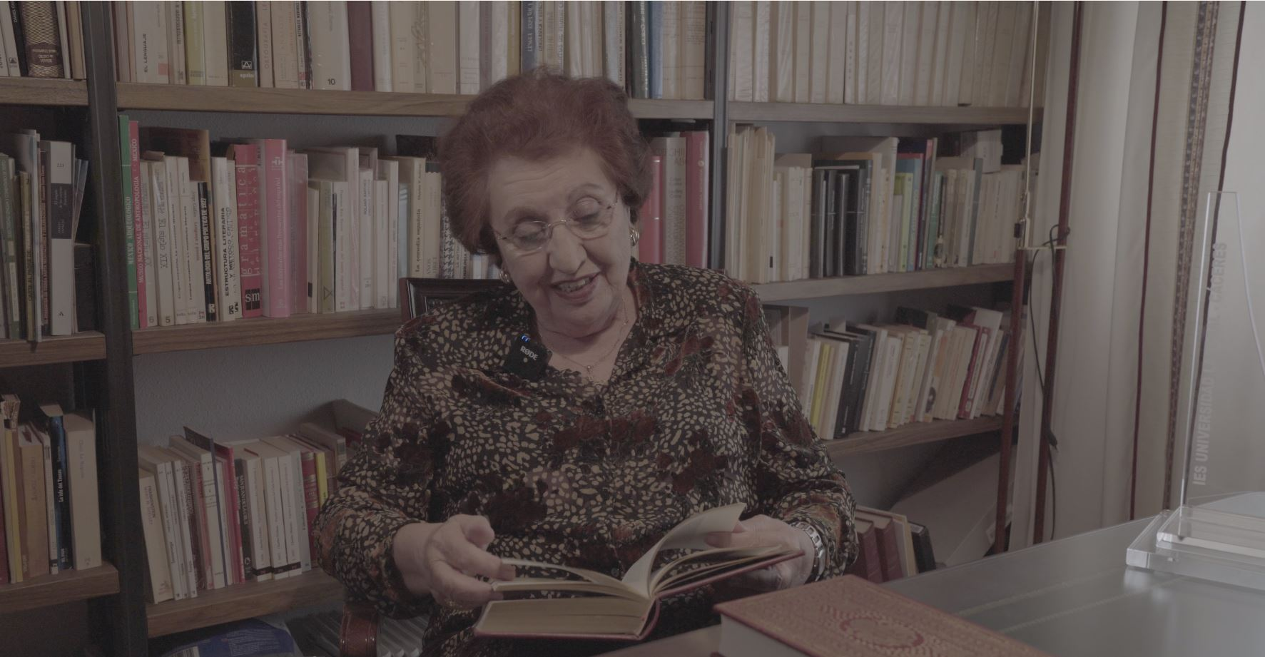 Mrs. Martín, in her own library